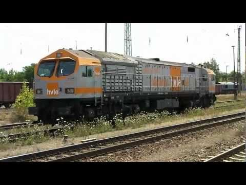 NICE DIESEL SOUND! HVLE-Blue Tiger shunting at Oranienburg