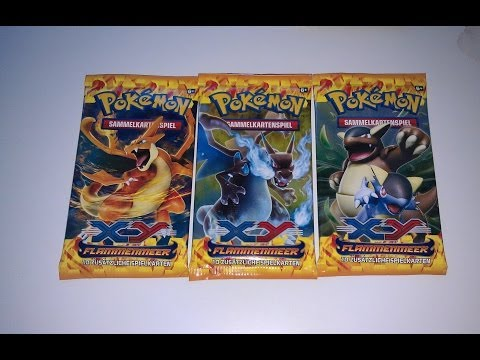 3 booster pokemon xy flammenmeer ffnen opening karten neu. Black Bedroom Furniture Sets. Home Design Ideas