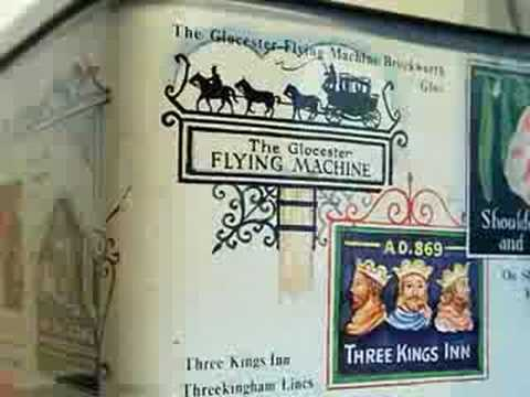 Biscuit Tin With Famous English Inn Signs, Sides