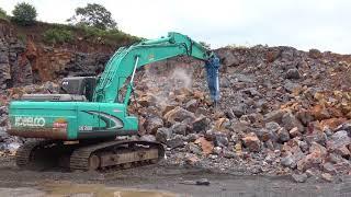 หัวเจาะ OKADA top 205 ทำงานในประเทศไทย โรงโม่หิน FULL HD