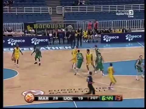 MAROUSSI B.C vs KK UNION OLIMPIJA LJUBLJANA FT 74-62 2009-2010