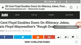 50 Cent Floyd doubles down on the literacy jokes this beef is getting worse.