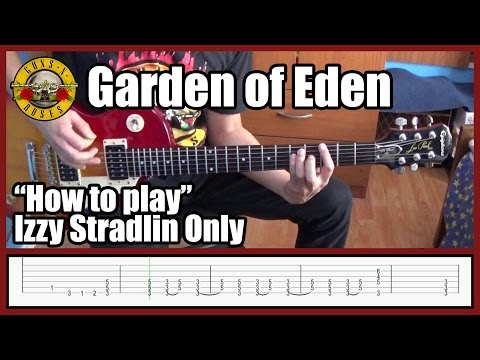 Guns N' Roses Garden Of Eden IZZY STRADLIN ONLY with tabs | Rhythm guitar