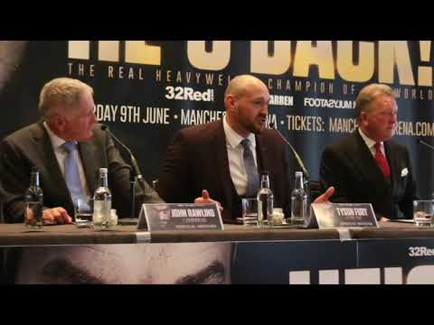 THE MAC IS BACK! -TYSON FURY **FULL & UNCUT** COMEBACK PRESS CONFERENCE - WITH FRANK WARREN
