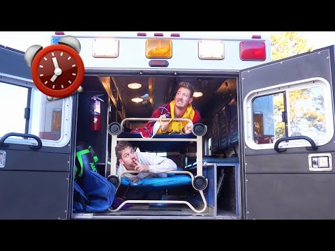 OVERNIGHT SURVIVAL CHALLENGE IN AMBULANCE!