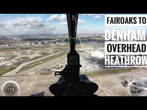 Fairoaks to Denham Helicopter Flight Across London - Cockpit View
