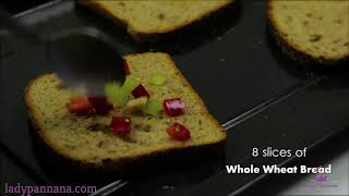 Healthy Cooking Recipes-Capsicum Cheese Toast Sandwich