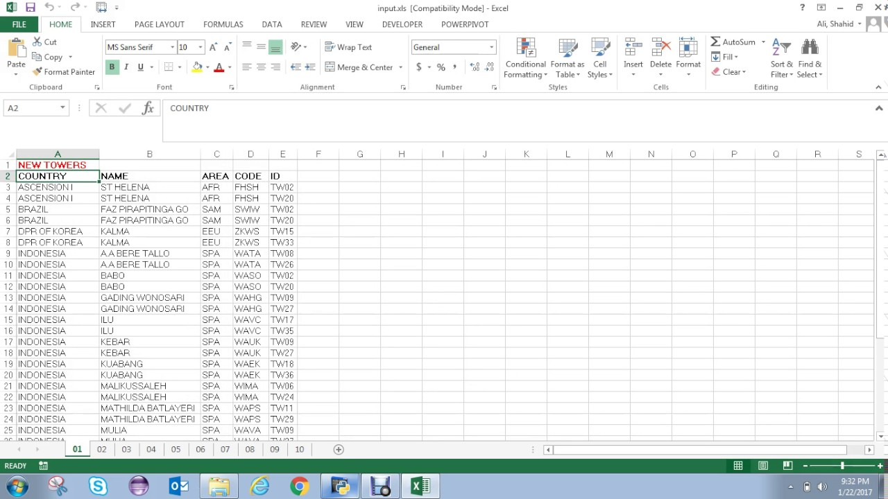 Excel Python (xlrd and xlsxwriter packages)