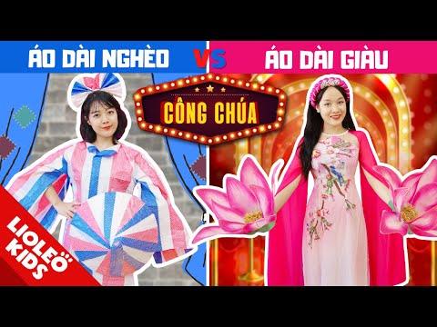 CÔNG CHÚA TÀI NĂNG GIÀU vs NGHÈO - Thiết kế thời trang áo dài từ BẠT CHỐNG NẮNG! Ai sẽ là quán quân?