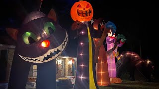 20 Foot Halloween Inflatables At Night