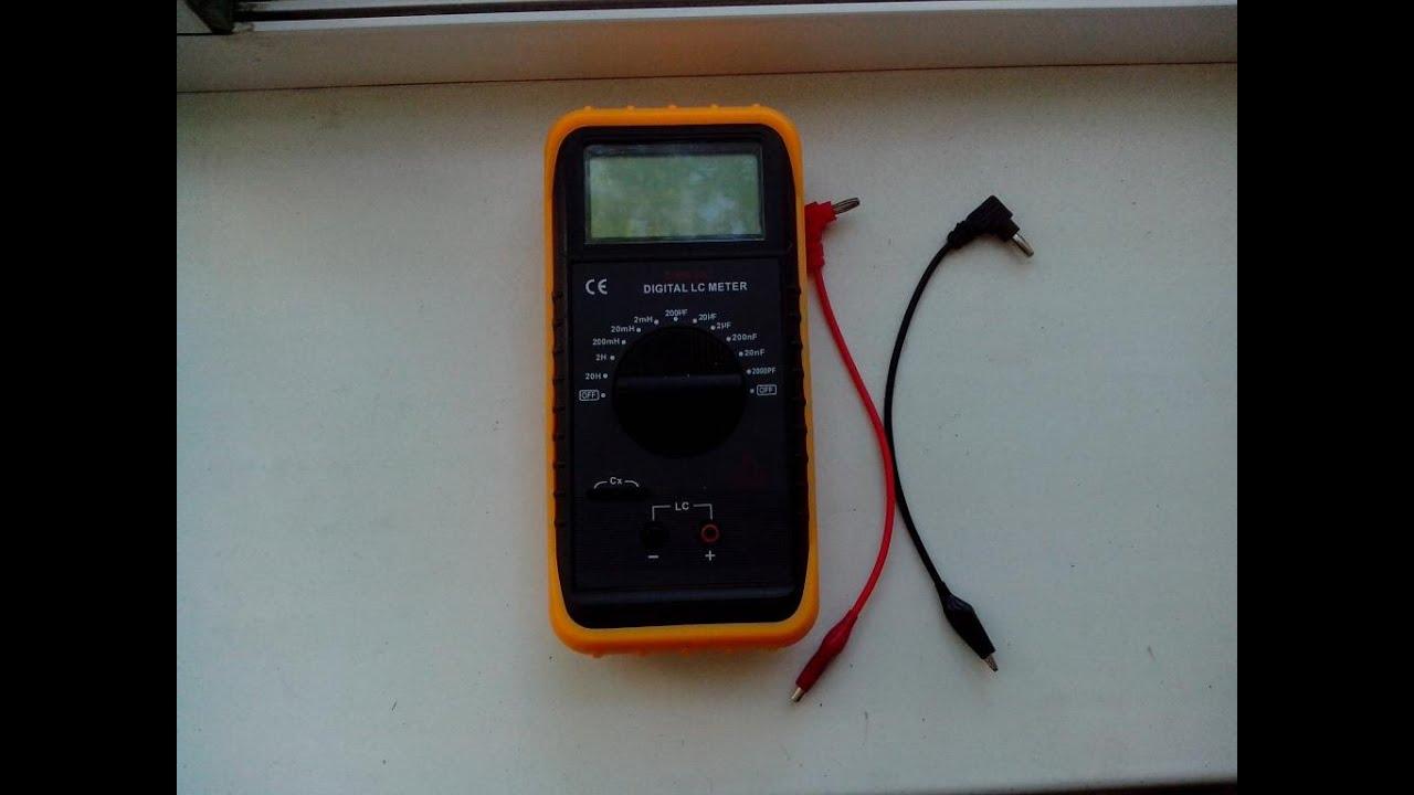 Мультиметр - DM 6243 / Измерение емкости и индуктивности