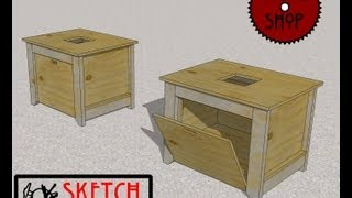Chief's Shop Sketch Of The Day: Benchtop Table Saw Stand