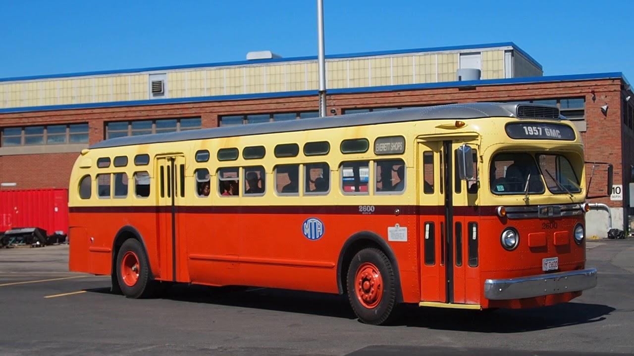 Vintage Gm Bus - Mbta Bus Garage