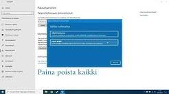 Vahva tehdasasetusten palautus Windows 10