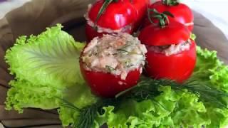 Фаршированные помидоры черри | Диетическая закуска