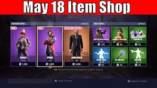 Item Shop May 18 - NEW Versa and Ether Skin - Fortnite Item Shop Today