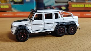 Mercedes Benz G63 AMG 6x6 🤩1/64 scale! Amazing detail 🧐 Era Car! Review White Edition📽️👀