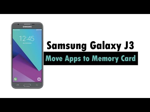 Samsung Galaxy J3 - How to Move Apps to Memory Card | H2TechVideos