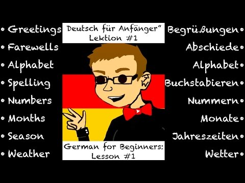 Deutsch Lernen für Anfänger: Lektion #1 - Live! (Learn German for Beginners: Lesson #1 - Live!)