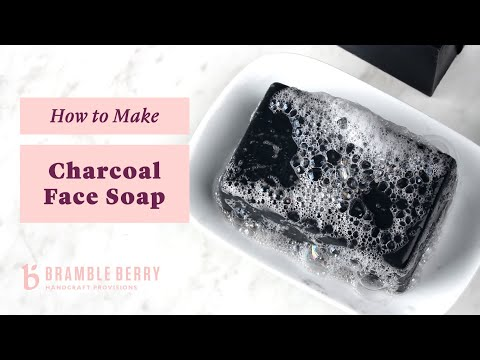How to Make Charcoal Facial Soap