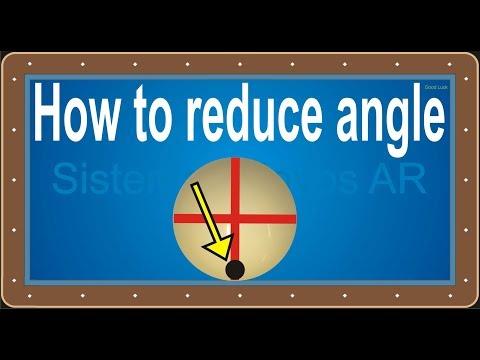당구 3 쿠션, - How to reduce angle, - 각도를 줄이는 방법, - New System AR