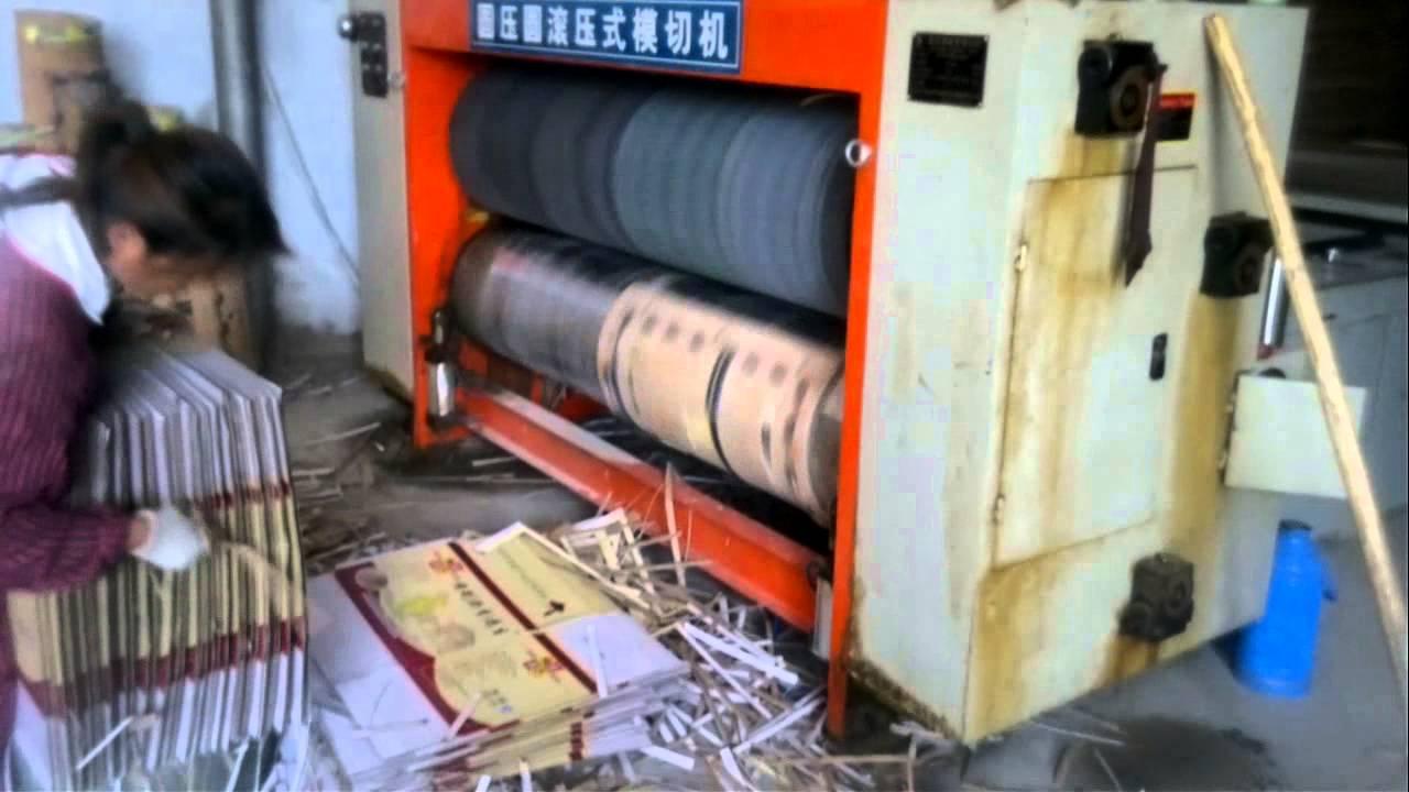 semi automatic chain feeder rotary die cutting machine for