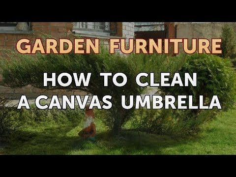 How To Clean A Canvas Umbrella Youtube
