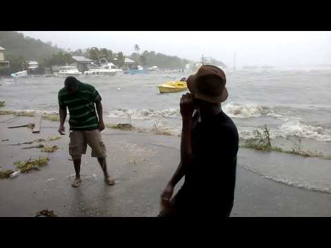 Hurricane Gonzalo Coverage in Antigua