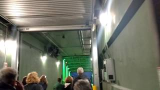 Walking out the Packers players tunnel at Lambeau Field! - Green Bay Packers Tour