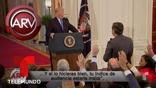 Trump se enfrenta con ira contra varios periodistas | Al Rojo Vivo | Telemundo