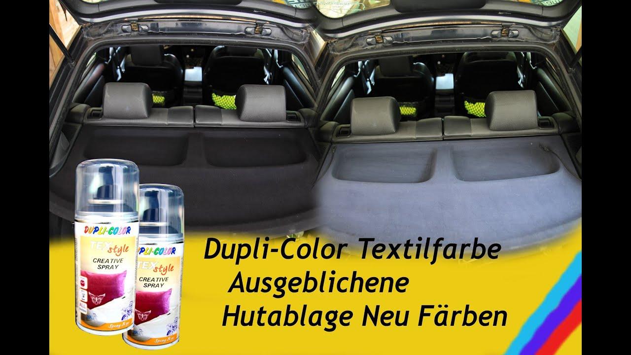 dupli color textilfarbe ausgeblichene hutablage neu f rben youtube. Black Bedroom Furniture Sets. Home Design Ideas