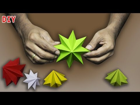 DIY Easy Paper Star for Christmas Decoration Origami Star