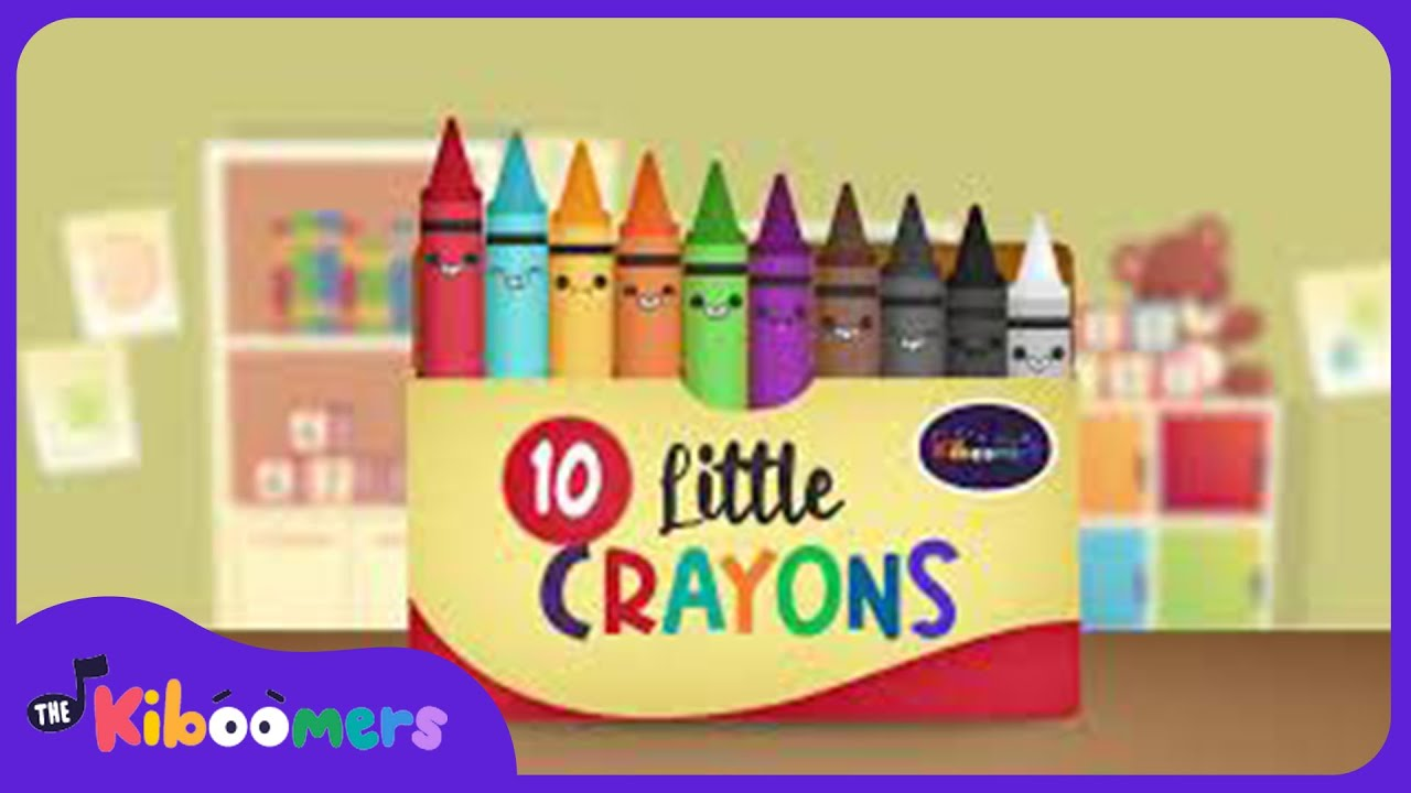 Ten Little Crayons | Songs for kids | The Kiboomers | Nursery Rhymes | Counting | Colours for Kids