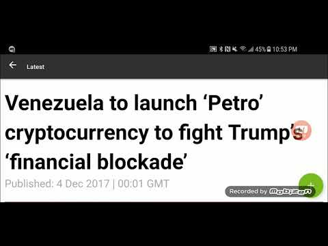 Venezuela To Launch Its Own  Petro Cryptocurrency