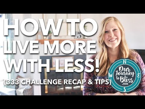 HOW-TO-LIVE-MORE-WITH-LESS-333-Challenge-Recap-Tips