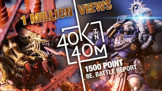 Warhammer 40k Tyranids vs Ultramarines 1500 point Battle Report