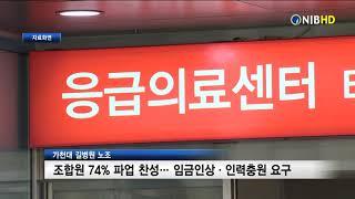 [NIB뉴스] 가천대 길병원 노조, 조합원 74% 파업…