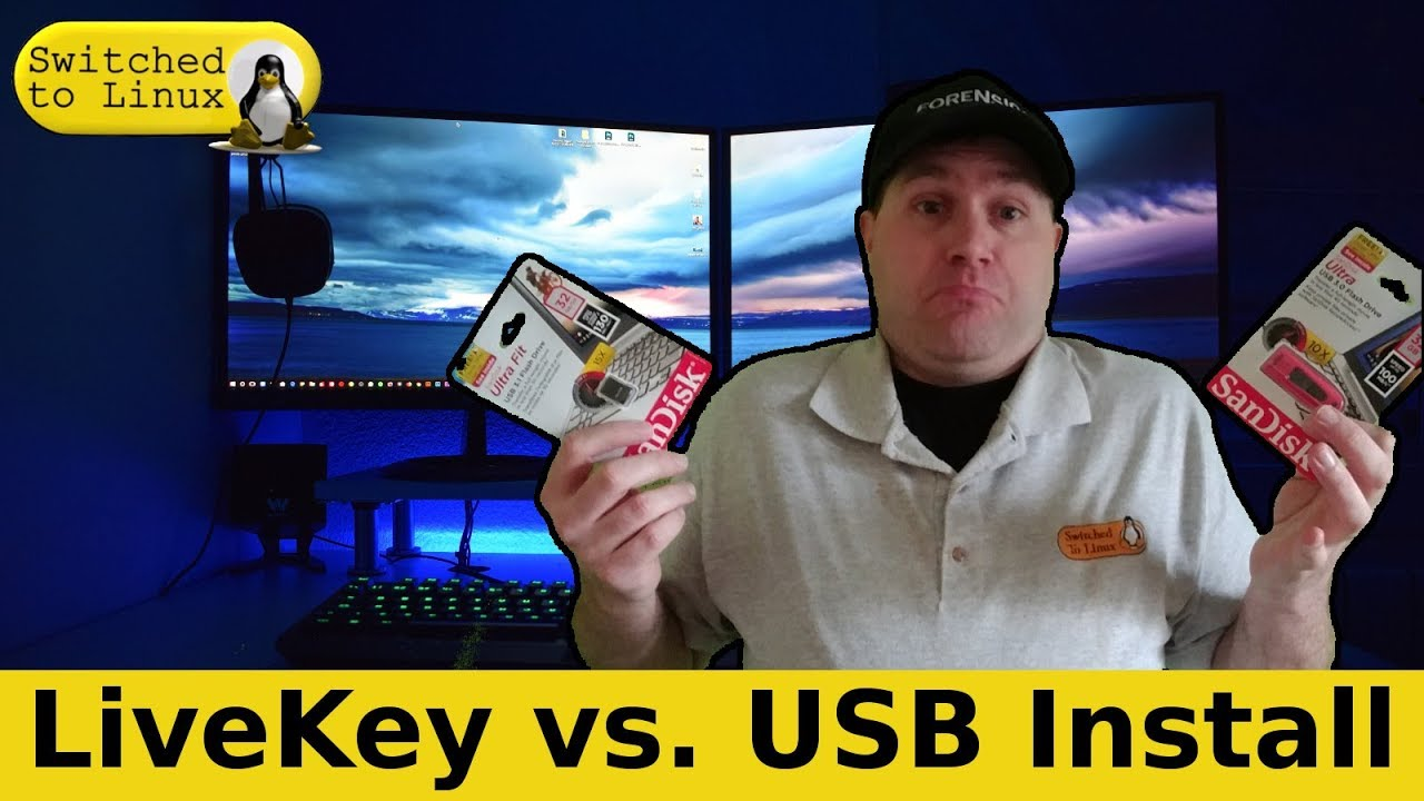 LiveKey vs  USB Install - Clearing Up some Confusion