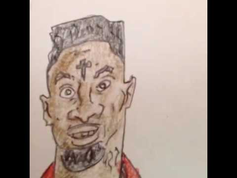 how to draw 21 savage