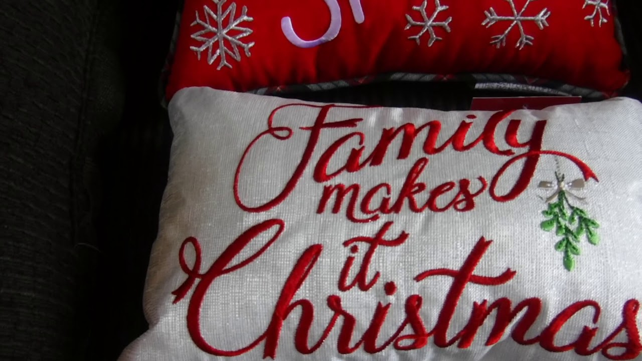 CHRISTMAS PILLOW HAUL...from kohl's - YouTube