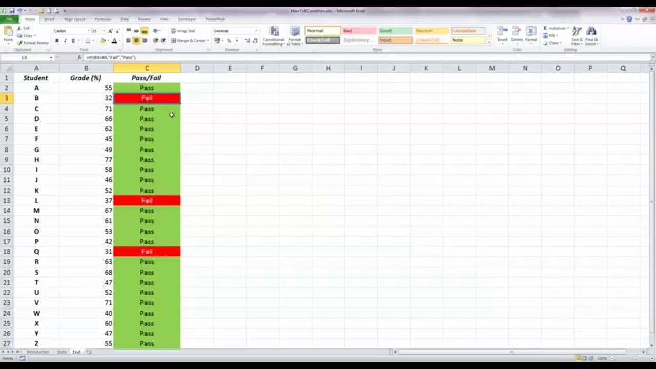 How To Use Basic Conditional Formatting With An If Statement In