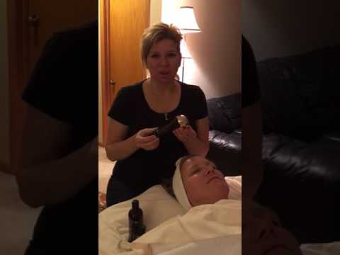 My NEW de-stressing, age-defying treatment with a Kansa wand!