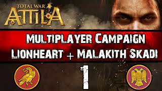 Video Total War: Attila - Multiplayer Campaign w/Malakith #1 ~ Eastern + Western Roman Empires download MP3, 3GP, MP4, WEBM, AVI, FLV Agustus 2017