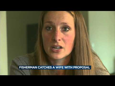 Fisherman catches a wife with ice fishing proposal