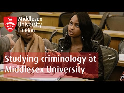 Studying criminology at Middlesex University