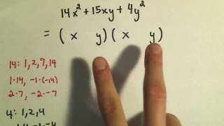 Factoring Trinomials by Trial and Error - Ex 2