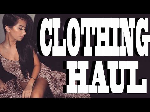 CLOTHING HAUL & FASHION SHOW! (in my room by myself)