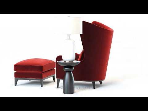 3d-model-|-monroe-red-armchair