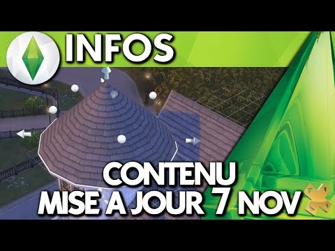 les sims 4 le contenu de la mise jour du 7 nov 2017 youtube. Black Bedroom Furniture Sets. Home Design Ideas