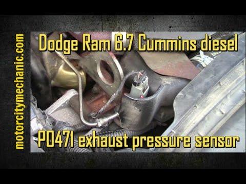 dodge ram 6 7 cummins diesel p0471 exhaust pressure sensor